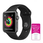 Apple Watch Series 3 GPS 42mm Space Gray Aluminum Case with Black Sport Band Smartwatch