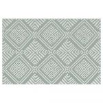 abensonHOME Printed Rug M1002 Light Blue