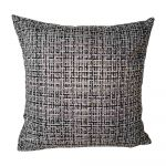 abensonHOME Checkered Pattern PWJA22 Throw Pillow Grey