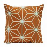 abensonHOME Geometric Pattern PWJA25 Throw Pillow Orange