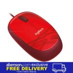 Logitech M105 Red Wired Mouse