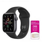 Apple Watch SE GPS 40mm Space Gray Aluminum Case with Black Sport Band Smartwatch