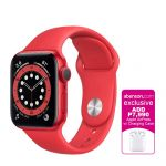 Apple Watch Series 6 GPS (PRODUCT)RED 40mm Aluminum Case with (PRODUCT) RED Sport Band Smartwatch