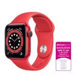 Apple Watch Series 6 GPS (PRODUCT)RED 40mm Aluminum Case with (PRODUCT)RED Sport Band Smartwatch