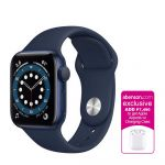 Apple Watch Series 6 GPS 44mm Blue Aluminum Case with Deep Navy Sport Band Smartwatch