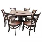 Homeplus Maris 6-Seater Dining Set Wenge